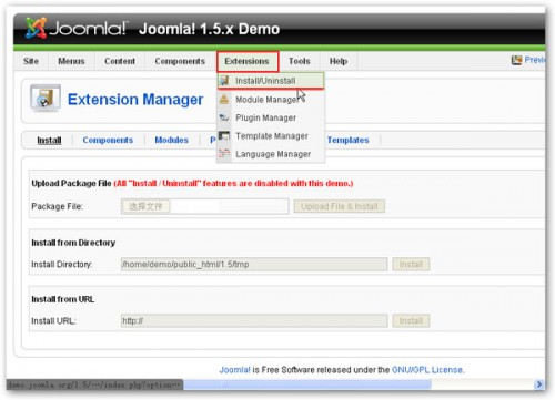 joomla! extension install