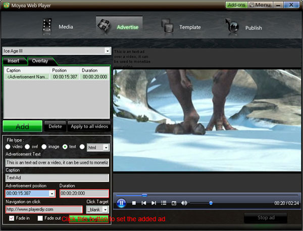 imovie how to add text over video